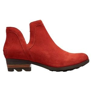 SOREL Lolla Cut-Out Bootie Carnelian Red NIB